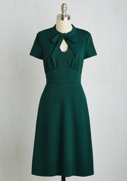Archival Revival Dress in Pine