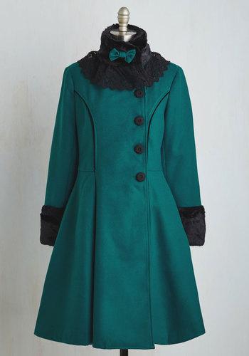 Book Tour Bliss Coat in Teal $219.99 AT vintagedancer.com