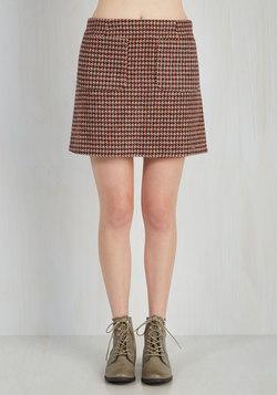 Bring Me Up to Tweed Skirt in Mocha
