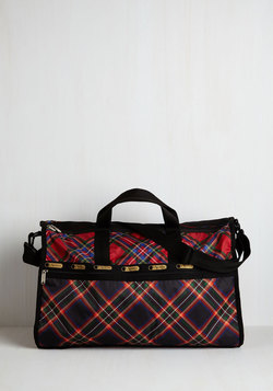 Plaid You Could Make It Weekend Bag