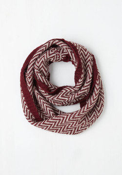 Ideal Mornings Circle Scarf in Burgundy