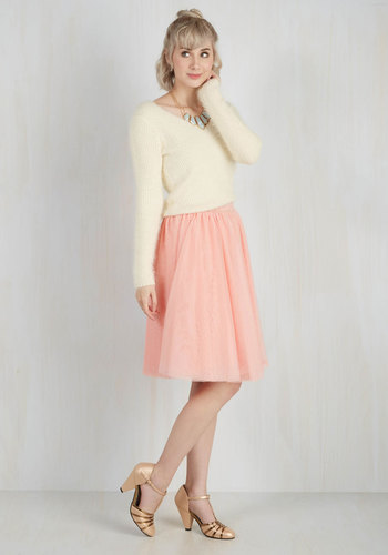 Tulle of the Trade Skirt in Rose