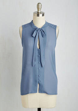 Zephyr than Ever Top in Slate Blue