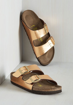 Strappy Camper Sandal in Copper