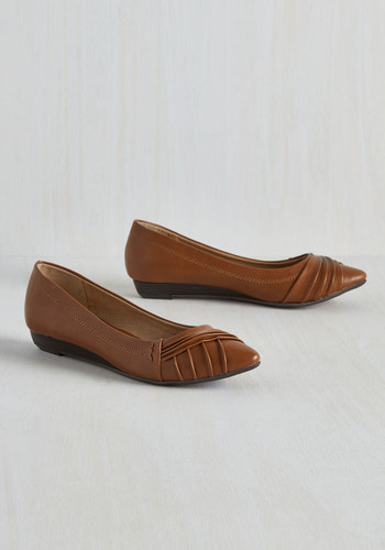 Charming Colleague Wedge in Caramel $49.99 AT vintagedancer.com