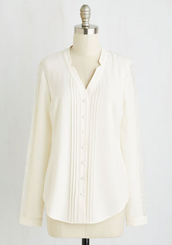 Collected Coordinator Top in Ivory