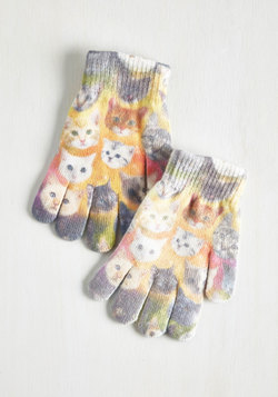 Cosmic Cuddle Gloves in Cats