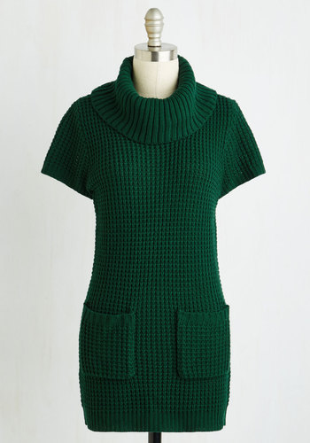 Crepe Expectations Sweater in Forest Green $49.99 AT vintagedancer.com