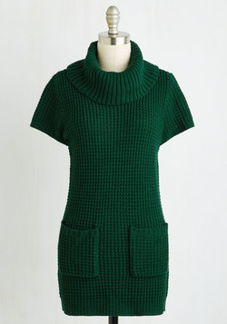 Crepe Expectations Sweater in Forest Green
