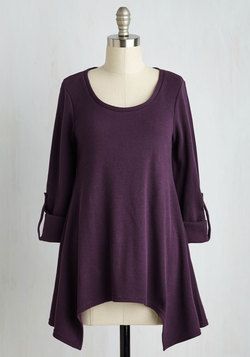 Everywhere for the Weekend Top in Aubergine