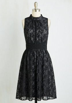 Windy City Dress in Black Lace
