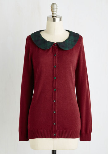 Dual and the Gang Cardigan in Burgundy $54.99 AT vintagedancer.com