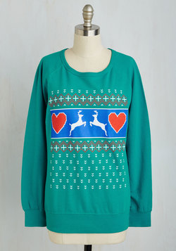 Extol the Holidays Sweatshirt in Reindeer