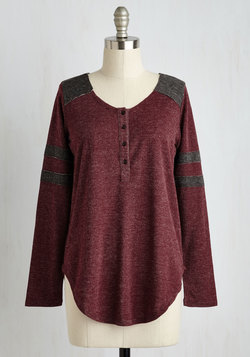 Sport of Call Top in Burgundy
