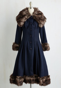 Luxe-y in Love Coat in Navy