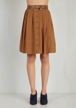 Nutmeg Latte Skirt