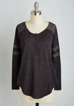 Sport of Call Top in Charcoal