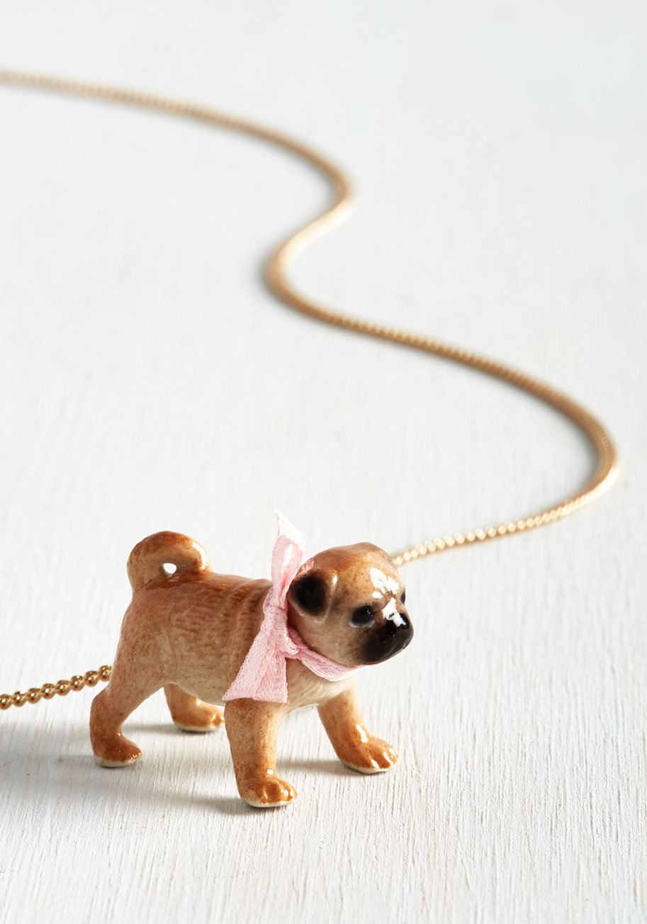 The CUTEST pug pendant necklace ever!