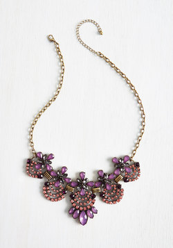 Hit the Town Stunning Necklace in Amethyst
