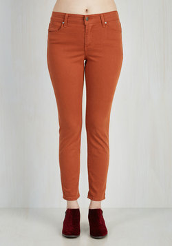 Solid Sense of Style Jeans in Rust