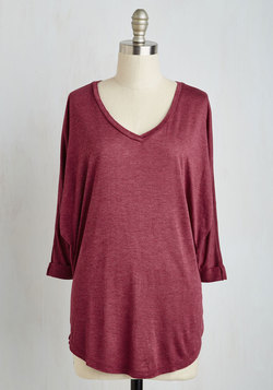 The Relax of Life Top in Maroon