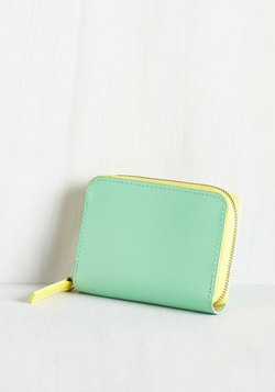Coin the Club Change Purse in Mint