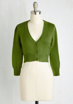 The Dream of the Crop Cardigan in Olive