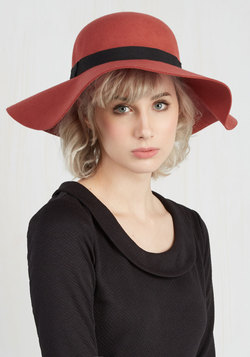 Born to be Styled Hat in Terra-cotta