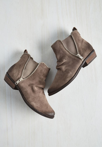 Madrid It Again Suede Booties in Taupe