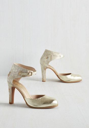Hopeful Heel in Gold $119.99 AT vintagedancer.com