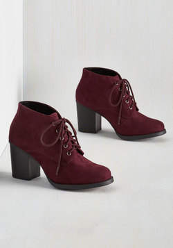 Take a Prance on Me Bootie in Burgundy