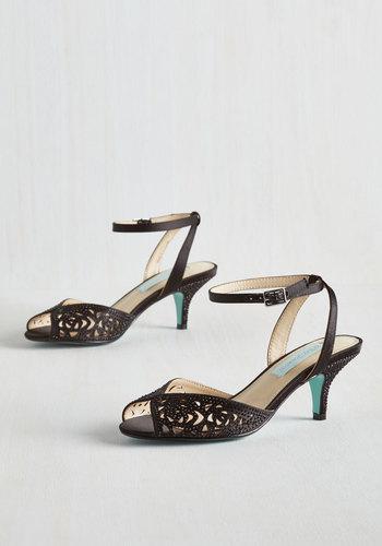 Glisten to Reason Heel in Onyx $98.99 AT vintagedancer.com