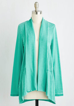 Your Fill of Chill Cardigan in Mint