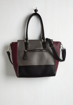 Triple the Charm Bag in Charcoal