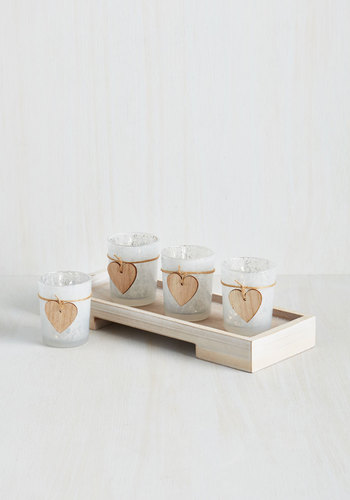 Rustic Respite Votive Candle Holder Set