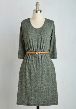 Fab Fundamentals Dress in Moss