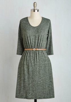 Fab Fundamentals Dress in Moss