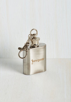 The Flask at Hand Keychain