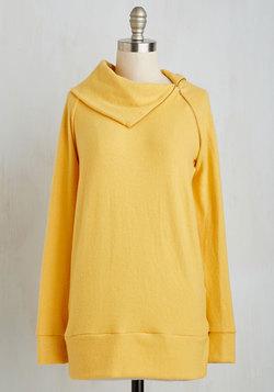 Stay Inn Sweater in Sunflower
