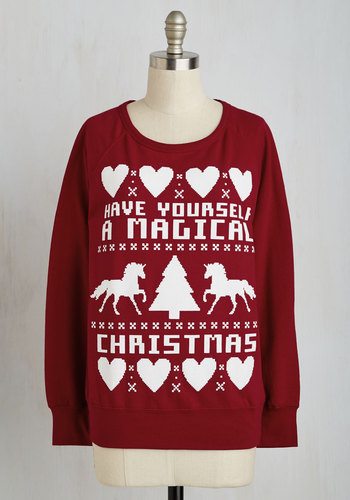 One Horn Open Sleigh Sweatshirt