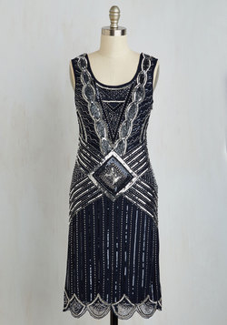 Cabaret Soiree Dress in Midnight