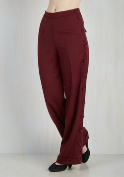 Go For the Bold Pants in Burgundy