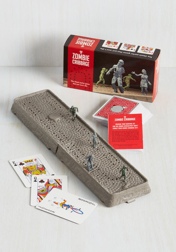 Zombie Cribbage by Chronicle Books - Multi, Quirky, Good, Halloween, Sci-fi, Nifty Nerd