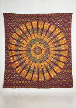 It's Wall for You Tapestry in Burgundy