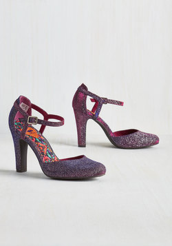 Fated Statement Heel in Amethyst Sparkle
