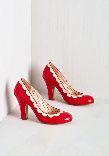 Petal Me This Heel in Ruby $73.99 AT vintagedancer.com