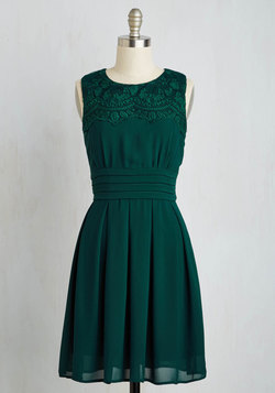 V.I.Pleased Dress in Forest Green