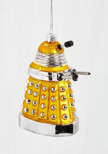 Dalek the Halls Ornament - Yellow, Sci-fi, Good, Holiday, Gifts2015, Guys