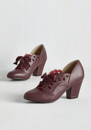 Lady and the Glam Heel in Bordeaux $74.99 AT vintagedancer.com