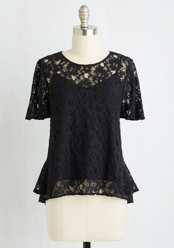 All In a Day's Flirt Top in Black